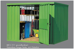 materiaalcontainer RAL kleur